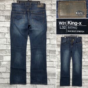 Buffalo King-X 31 x 32 Slim Boot Button Fly Jeans